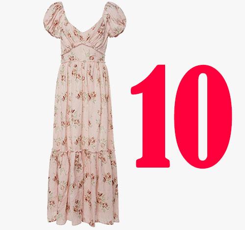 Love Shack Fancy Angie silk dress