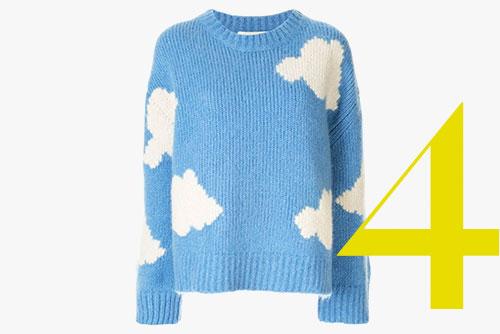 Mansur Gavriel cloud print sweater