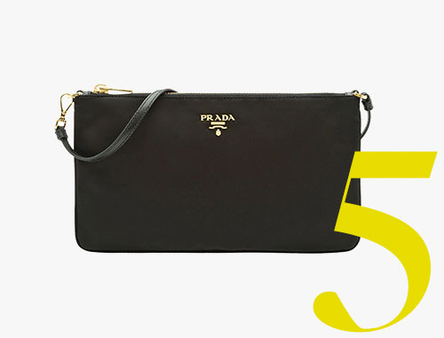 Prada black Nylon flat pouch
