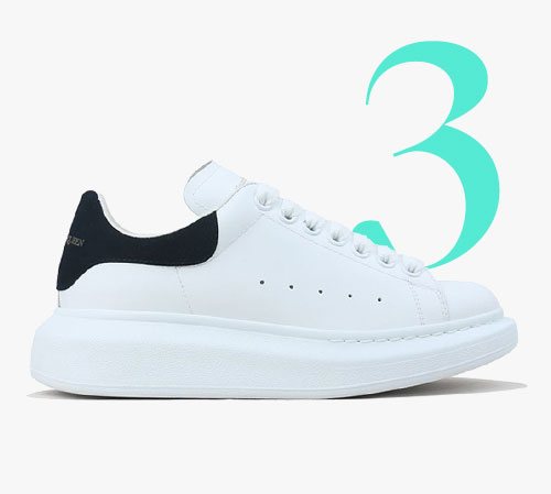 Alexander McQueen exaggerated-sole leather trainers