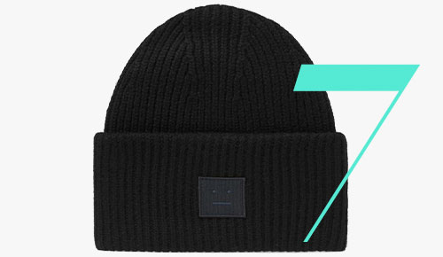 Acne Studios Face-Patch beanie