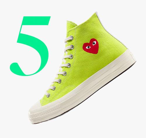 Photo: Comme des Garçons Play x Converse Chuck 70 high sneakers