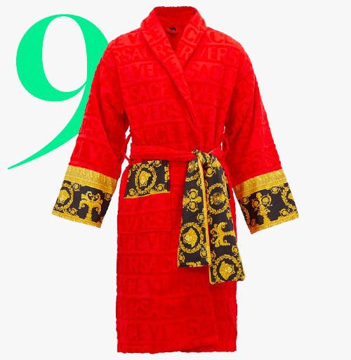 Photo: Versace 'I love baroque' bathrobe