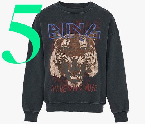 Photo: Anine Bing tiger sweatshirt