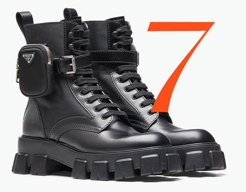Photo: Prada leather combat boots