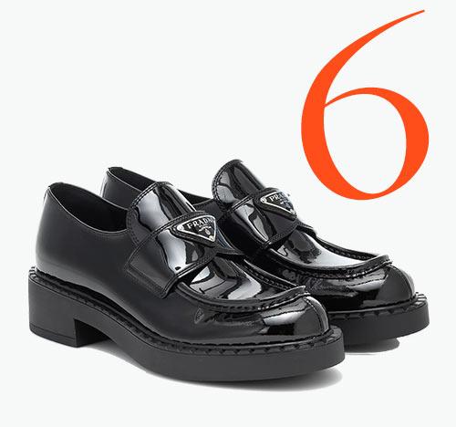 Photo: Prada logo loafers