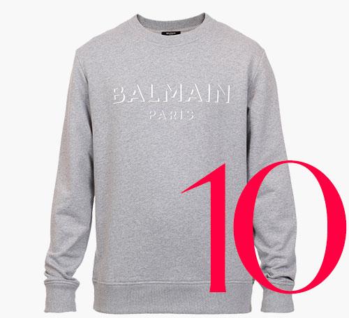 Photo: Balmain 3D effect logo sweatshirt