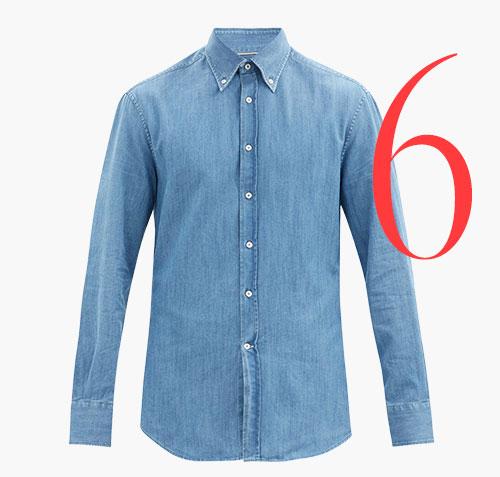 Photo: Brunello Cucinelli button-down denim shirt