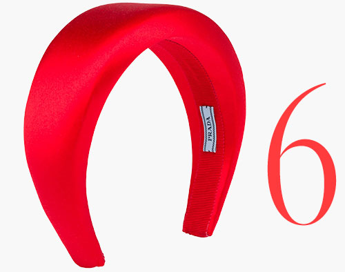 Photo: Prada satin headband