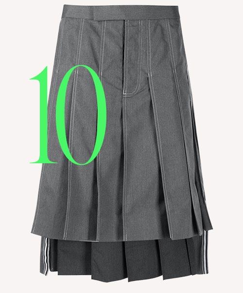Photo: Thom Browne pleated skirt